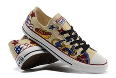 8ca12bd7394e All Star Beige Converse Pattern Printing Style Low Chuck Taylor Shoes   converse  shoes Chuck