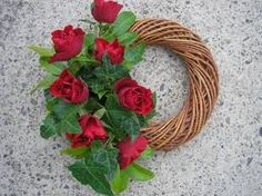funeral flowers Funeral Arrangements, Flower Arrangements, Funeral Flowers, Wedding Flowers, Sympathy Flowers, Grapevine Wreath, Funeral Ideas, Floral Wreath, Projects To Try