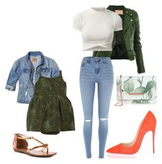 Envy Green by aantunes921 on Polyvore featuring River Island, Hollister Co., Christian Louboutin, ZIGIgirl, Ted Baker, Carter's, Fall, denim and orange