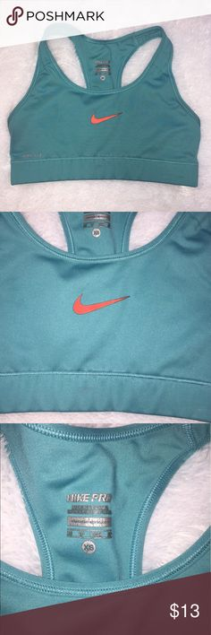 Nike pro Dri- fit sports bra Good condition Nike sports bra. The last pictures show the marks on the bra, they aren't noticeable but wanted to point the condition out. Nike Intimates & Sleepwear Bras