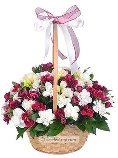 Bordo Ve Beyaz Kır Çiçekleri çiçekhttp://www.cicekvitrini.com/cicekler/istanbul-cicek-siparisi