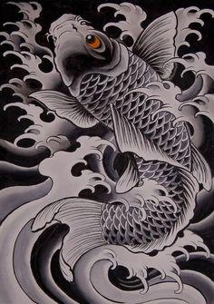 Desenhos de tatuagens Carpa para downloads