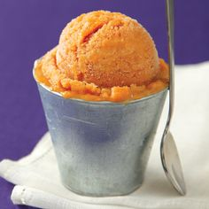 Clean Eating Magazine's Sweet Potato Ice Cream  How yummy does this look!  Can't wait to try this recipe, perfect for summer solstice and full of nutrients and deliciousness.   INGREDIENTS:  1 large sweet potato, peeled and sliced into ½-inch-thick piece  1/2 cup pure maple syrup  2 cups low-fat, unsweetened oat milk  1/2 cup raw honey  1 tsp pure vanilla extract  1 tsp pumpkin pie spice  Directions:  Preheat oven to 350°F. Place potato in a 10 1/2 x 7-inch baking dish. Pour maple syrup o