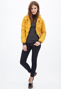Hooded Puffer Jacket | FOREVER21 - 2000119093