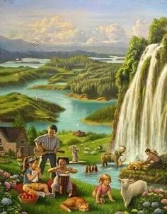 """Paradise """"""""""""USE YOUR IMAGIONATION"""""""""""" for what Jehovah has in store for us!!!"""