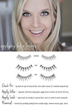 Are you intimidated by false lashes? This blogger gives you easy how-tos. Click through for her tutorial.