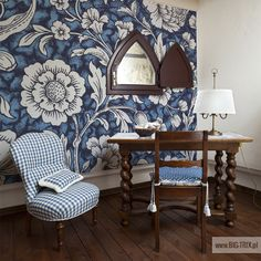 CLASSIC: Retro blue wallpaper by Big-trix.pl   #wallpaper #retro