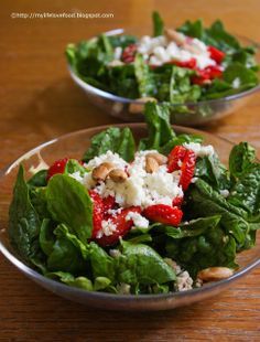 Spinach, Strawberry, Feta & Almond Salad...