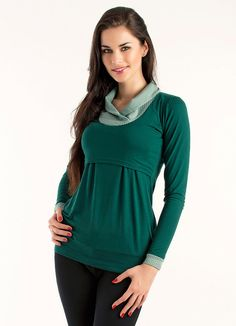 Felice maternity & nursing top bottle green-dots on Etsy, $63.71