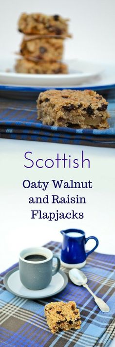 Traditional Scottish oaty bars with walnuts and raisins. Very easy to make and chewy just like they should be.
