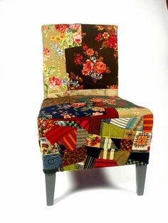 Upholstered In Laura Ashley Fabric. Bespoke & Handmade Queen Anne Footstool Home & Garden