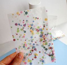 confetti on vellum - and it won't move around!