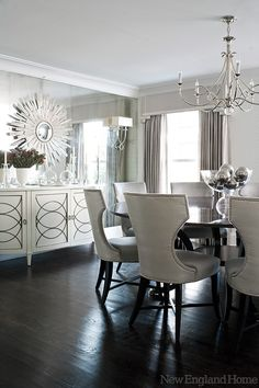 Dining Room Dining Room - **one wall mirrored