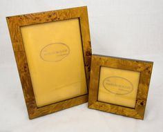 2 New Marlborough Collection Polished Cavendish Burl Wood Photo Picture Frames | eBay