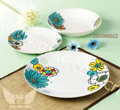 Dinnerware Sets Product   Coupe shape flower decoration dinnerware sets in porcelain (201006022)