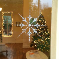 Snowflakes in Calistoga? Yep! On our windows, anyway.