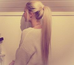 long blonde ponytail