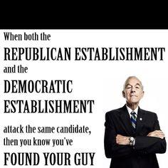 Probably true. ;)   Republican, democrat-- he's your guy!