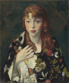 Robert Henri (American, 1865–1929) - Edna Smith in a Japanese Wrap, c. 1915