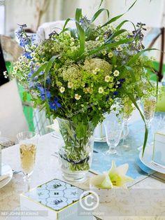 Moderní styl stolování - luční květiny, Modern dining style - wildflowers, Glass Vase, Sweet Home, Herbs, Home Decor, Decoration Home, House Beautiful, Room Decor, Herb, Spice