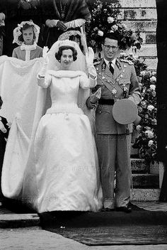 1960 The wedding of King Baudouin of Belgium and Fabiola Mores Y Aragon, Brussels