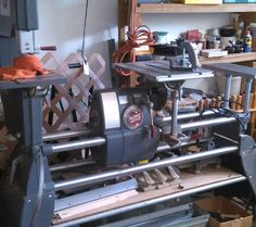 Shop Smith Work Sation in DansDen's Garage Sale in Jacksonville , AR for $2000.00. 1987 ShopSmith work station with a variety of tools,such as lathe, saw, band saw and lathe tools