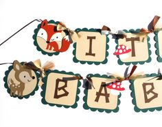 Items similar to Baby Shower Woodland Animal Theme It's A Boy or Girl Banner Fox, Owl, Deer, Mushroom, Raccoon. You Choose the Animals on Etsy Baby Boy Birthday Decoration, Baby Shower Decorations For Boys, Baby Shower Themes, Baby Boy Shower, Shower Ideas, Baby Showers, Woodland Animals Theme, 60th Birthday Party Invitations, Unique Baby Shower