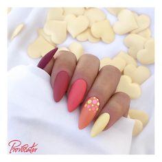 Matte Summer Nails