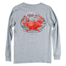 Southern Marsh Crab Boil Festival L/S T-Shirt- Light Gray