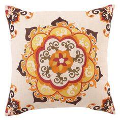 DL Rhein Mandala Orange Embroidered Pillow. @Layla Grayce #laylagrayce #pillows