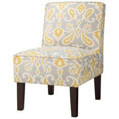 Threshold Slipper Chair - Ikat.  What do you think of this with that grey couch I showed you?
