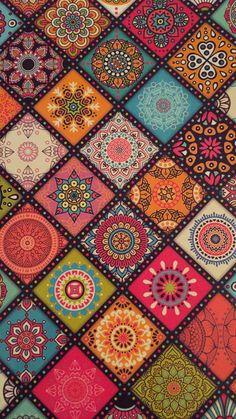 Aztec Phone Wallpaper, Gold Wallpaper Background, Hippie Wallpaper, Fabric Wallpaper, Pattern Wallpaper, Background Patterns, Ceramic Tile Art, Motif Art Deco, Thangka Painting