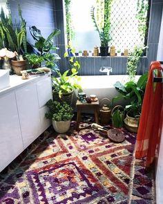 36 Inspiring Bohemian Style Bathroom Decor Ideas - Popy Home Decor, House Design, House, Bohemian Style Bathroom, Interior, Bathroom Styling, Home Decor, Interior Design, Bathroom Decor
