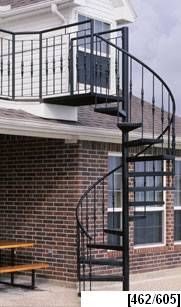 wrought iron outdoor spiral staircase to lead to the pool on the opposite side of the - Outdoor Spiral Staircase