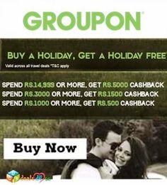 Buy a Holiday, Get A Holiday Free - Get Upto Rs.5,000/- Cashback on Travel Deals