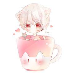 埋め込み Dibujos Anime Chibi, Cute Anime Chibi, Anime Cat, Anime Guys, Anime Naruto, Neko Kawaii, Kawaii Art, Chibi Boy, Chibi Characters