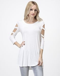 SOLID BLOUSE WITH CUTOUT SLEEVE http://www.divaslobby.com/ProductDetails.asp?ProductCode=SN402
