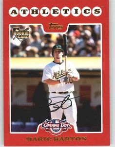 2008 Topps Opening Day 215 Daric Barton (RC) - Oakland Athletics (RC - Rookie Card) (Baseball Cards) >>> Check this awesome product by going to the link at the image.
