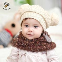 Welding Equipment Spirited Baby Cute Bear Ears Hat With Doll Toys Wool Blend Newborn Infant Boys Girls Beanie Hat Photography Prop Knitted Kids Hats Dolls Complete In Specifications