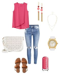 """""""Untitled #227"""" by kmysoccer on Polyvore featuring H&M, MANGO, Kate Spade, Fiorelli, Aéropostale, Essie, Under One Sky and Lipsy"""