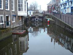 Maassluis, the Netherlands.De wip bij de Markt , richting Haven en Noordijk.