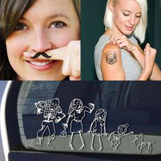 Zombie Family & Tattoos, $20, now featured on Fab.