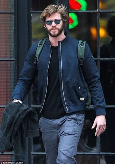New film: The hunky Australian actor has been in New York promoting The Hunger Games: Mock...
