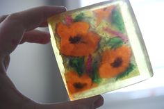 DIY Graphic Melt and Pour Soaps - Simple diy that makes a great stocking stuffer gift for the bath and body lover