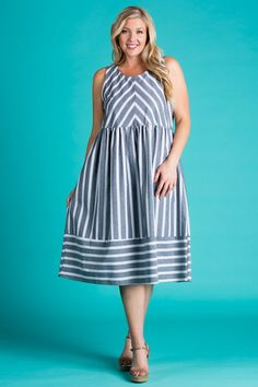 plus size houndstooth ruffled shoulder dress (plus size