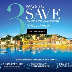 Anyone want to join me on a #silversea Cruise. At which cruise shall I go on and shall I Take the savings on 1 or 2 or 3? Any suggestions?