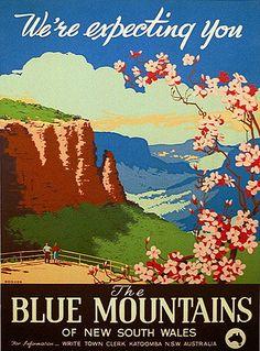 Blue Mountains tourism poster
