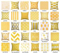 Yellow Throw Pillow  Premier Prints Yellow by LandofPillowsDotCom, $16.99
