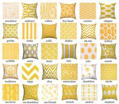 Yellow Throw Pillow  Premier Prints Yellow by LandofPillowsDotCom, $16.99