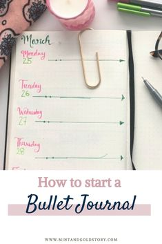 A short and simple guide to starting your bullet journal journey, plus keys to making the system that works for you! Read on to find out how to start a bullet journal in 3 simple steps! Bullet Journal How To Start A, Bullet Journal Inspo, Down Quotes, Journal Inspiration, Journal Ideas, Cute Notebooks, Mint Gold, Write It Down, Start Writing